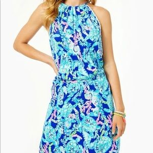 NWT Lilly Pulitzer Gianni Corsica Blue Romper 12